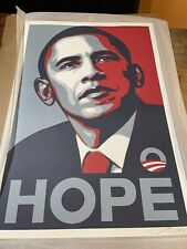 Shepard Fairey Obama Hope Signed Art Print Poster Obey Giant