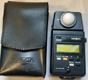 Minolta Auto Meter III Light Meter With Case and Battery