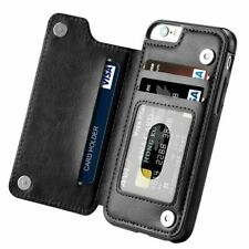 Leather Flip Wallet Card Holder Case Cover For iPhone 12 11 7 8Plus Samsung S10+