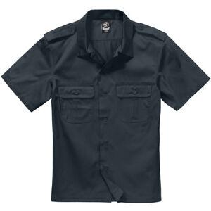 Brandit US Shirt 1/2 Work Security Army Gear Uniform Mens Short Sleeved Black