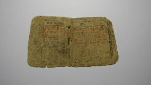 1758 Six Shillings New Jersey NJ Colonial Currency Note Bill! RARE ISSUE 6s