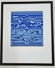 VICTOR VASARELY Pencil Signed No. RARE 70s Limited Edition SERIGRAPH Silkscreen