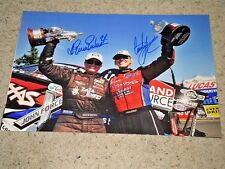 COURTNEY FORCE & ERICA ENDERS NHRA DRIIVERS SIGNED 12X18 PHOTO coa ,