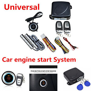 Universal 8x Car SUV Alarm System Keyless Entry Engine Start Push Button Remote