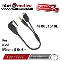 Audi VW iPod iPhone 5 5s 6 Plus Audio AMI Cable Adaptor Interface Lead Connector