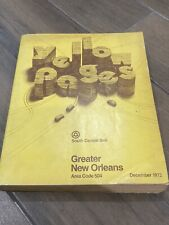 1972 New Orleans Yellow Pages Telephone Directory/book