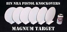Steel Shooting Targets - 8in Knock-overs - NRA Metal Knock-down Pistol Plates