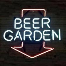 """Beer Garden Arrow Neon Lamp Sign 20""""x16"""" Bar Light Garage Windows Cave Display"""