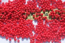 8/0 Vintage Czech Glass Opaque Dark Red Seed Beads Crafts Jewelry Making/ 1oz