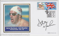 GREAT BRITISH GOLD MEDAL WINNERS SIGNED  FDC COVER ADRIAN MOORHOUSE 2004 OLYMPIC