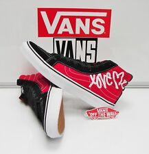 Vans SK8 Hi Slim Love Me X Vans Black True White VN0QG37LI Women's Size: 9.5