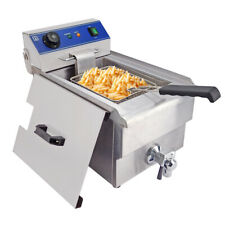 10L Electric Deep Fryer Commercial Stainless Steel Restaurant Fat Frying Chip