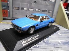 Maserati Kyalami Coupe 1992 Light Blue bleu v8 RAR MINICHAMPS 1:43