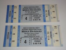 THE MERLE HAGGARD SHOW 2 UNUSED 1984 CONCERT TICKETS FRESNO CALIFORNIA USA BLUE