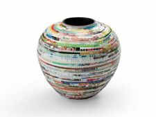 Handmade Bowl Bulb Vase Eco-friendly Home Decor Recycled Upcycled Paper Art BxG