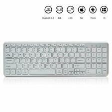 Bluetooth Keyboard, Universal Multi Device Wireless Keyboard for Win/Mac (White)