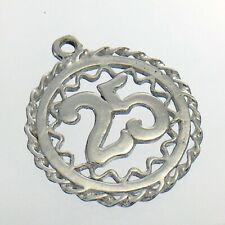25 Years Old Happy Birthday Anniversary Charm Necklace Pendant 1.7g 0.75in J723