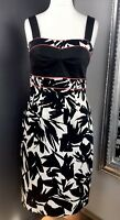 Raxevsky Dress, Size M, Black, White Patten, Shoulder Straps, Night Out, Special