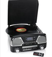 RETRO Nostalgie Musikanlage DAB+ Radio Encoding Plattenspieler CD USB Chrome Auk
