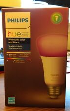 Philips Hue White and Color Ambiance Dimmable A19 10 Watt LED Bulb- Never Opened