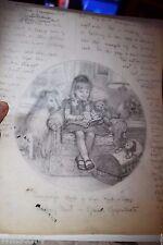 Illustrator Art Danbury Mint Plate Sunday's Child Elaine Gignilliat Collie Doll