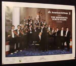 """1985-86 MINNESOTA NORTH STARS """"AT THE ORDWAY"""" 19x25"""" TEAM ORCHESTRA PROMO POSTER"""