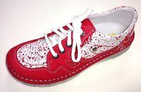 Krisbut Damen Schuhe Halbschuh Schnürer Schnürschuh Sneaker 2356-1-1 Leder rot