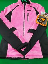 LADIES ICEPEAK WINTER WALKING FLEECE JACKET PINK-BLACK SIZE EU 36 6 / 8