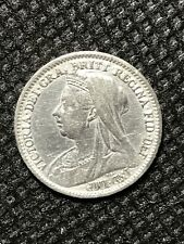 More details for great britain, victoria, 3 pence, 1898, au-silver coin