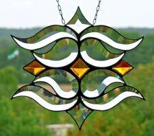 Leaded Glass Suncatcher Jugendstil-Facetten- Window Image in Tiffany 25 x 22 CM
