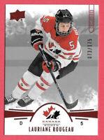 2016-17 Lauriane Rougeau Upper Deck Team Canada Juniors 073/175 Red