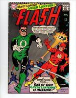 "The Flash #168 (Mar 1967, DC) FN/VF 7.0 ""GREEN LANTERN COVER/APP."""