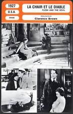 FICHE CINEMA : LA CHAIR ET LE DIABLE - Gilbert,Garbo 1927 - Flesh and the Devil