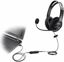 BNIB USB Headset/Headphone with microphone voice recognition volume controller