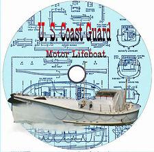 "Model Boat Plans Vintage Display 9"" Radio Control 18"" USCG 36' Motor Life Boat"