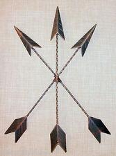 NEW~Metal Arrow Tribal Wall Hanging Antique Bronze Native American Art Decor