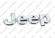 JEEP CHROME BADGE STICKER FOR REAR FRONT BONNET BOOT EMBLEM CHEROKEE WRANGLER