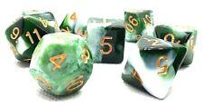 RPG Tabletop DnD Spiel Roleplay Warhammer Würfel Set 7-teilig Lollypop Grün Dice