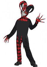 Kids Halloween Red Crazed Evil Jester Costume