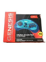 Retro-Bit 2.4 GHz Wireless Controller 8-Button Sega Genesis Original/Mini - Blue