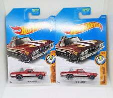 2017 Hot Wheels '68 El Camino - No. 216 - Dark Red- Set of 2