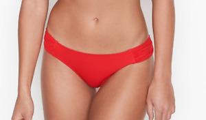 NWT VICTORIA'S SECRET Havana Hipster Knock Out Bikini Swim Bottom Red PICK SIZE