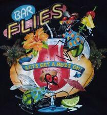 VINTAGE CARIBBEAN SOUL BAR FLIES LETS GET A BUZZ ON - BLACK 2XL T-SHIRT