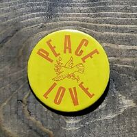 Rare Vintage 1970's Peace Love Pin / Button / Badge / Pinback