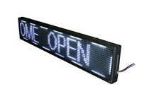 100x20cm LED Laufschrift Leuchtreklame Werbeanzeige Lauftext Anzeigetafel Schild