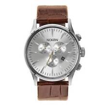 Relojes de pulsera Nixon cuero cronógrafo