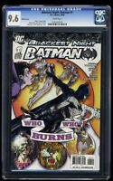 Blackest Night: Batman #1 CGC NM+ 9.6 White Pages Variant Cover!