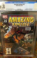 Amazing Fantasy 15 CGC 9.8 Spiderman ⭐ Rare ⭐ CGC Fresh New Case ⭐1st AmadeusCho