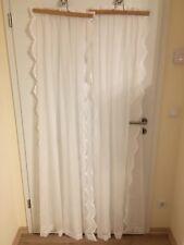 Stores Gardine Vorhang weiß Jaquard 2 Schals Seitenschals je 124 x 175 Reihband