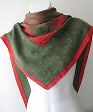 Unbranded Floral 100% Silk Vintage Scarves & Shawls